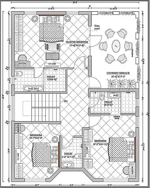 First level floor plan of HAMILTON at Twin Lake Residences