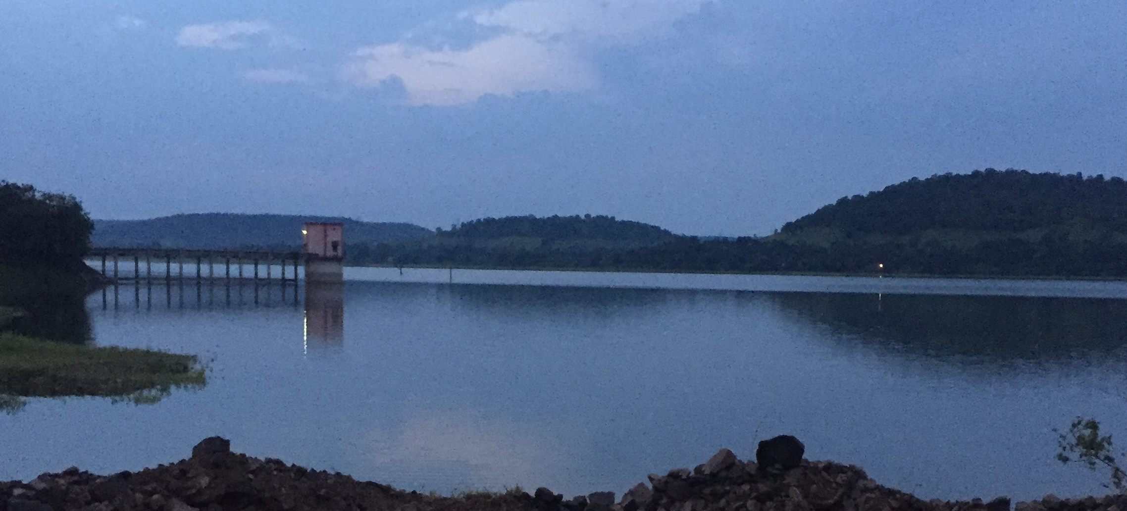 Evening view of the lake from Twin Lake Residences Nagpur